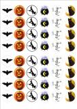 Halloween - jedlý papír  48 ks ii