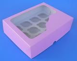 Krabička na muffiny fialová 12 ks