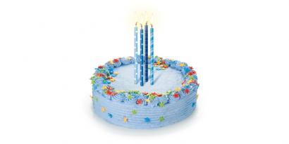 Svíčky dortové barevné 16 ks modré