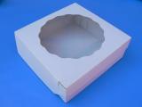 Krabice bílá s okénkem na dorty