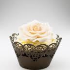 Košíčky na cupcakes  12 ks   hnědé  2