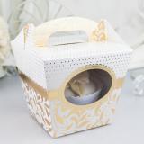 Krabička na cupcake  zlatá