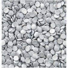 Cukrová dekorace stříbrné konfety