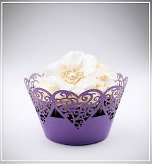 Košíčky na cupcakes  12 ks  fialové 2