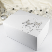 Krabička motýlková velká  bílá perleť 10 ks