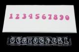 Vypichovač číslic  groovy- pružinové