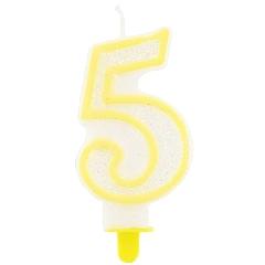 Svíčka na dort číslo  5