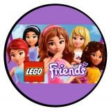 Jedlý papír lego friends