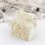 Krabička motýlková malá zlatá perleť 1 ks