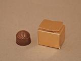 Krabička jednopralinková zlatá