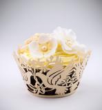 Košíčky na cupcakes  12 ks  zlaté - holubička