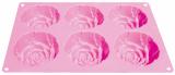 Silikonová pečící forma růže