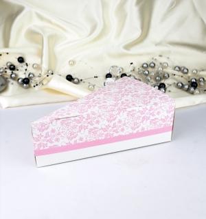Krabička na dort růžová 1 ks