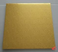 Podložka dortová zlatá čtverec  20 x 20 cm