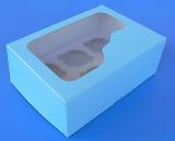 Krabička na muffiny modrá   6 ks