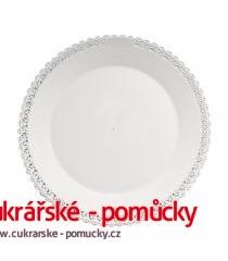 Podložka dortová bílá- plast 29,5 cm