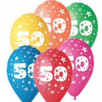 Balonek  30 cm číslo  50
