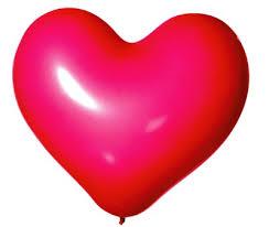 Balonek srdíčko růžové   1 ks