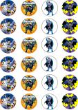 24 ks obrázků z jedlého papíru batman