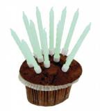 Dortové svíčky 10 ks fosforeskující