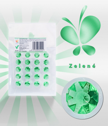 Diamanty jedlé z želé zelené 20 ks