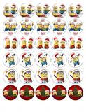 30 ks obrázků z jedlého papíru mimoni vánoce