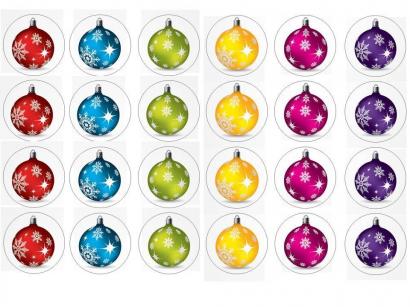 24 ks obrázků z jedlého papíru vánoce 1