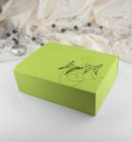 Krabička -  zelená   motýl  10 ks