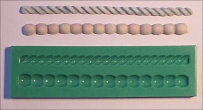 Silikonová forma provaz a perly