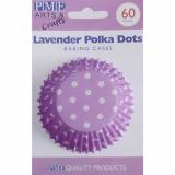 Cukrářské košíčky  - fialové s puntíky  60 ks