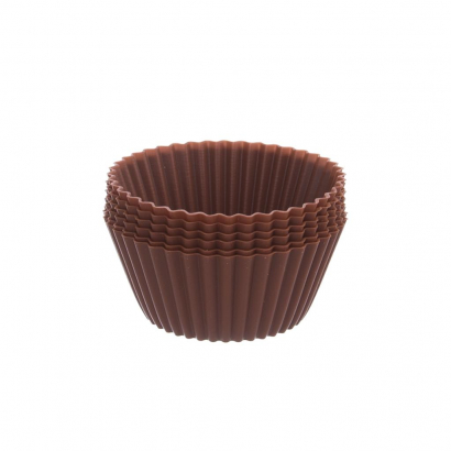 Silikonové muffiny kulaté sada 12 ks