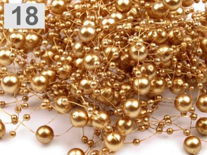 Perličky na silonu  zlaté
