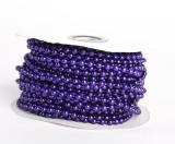 Perličky na niti fialové 3 mm