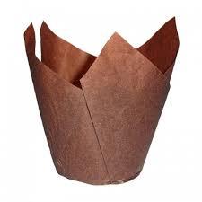 Tulipan - papírový košíček  hnědý  na muffiny  20 ks