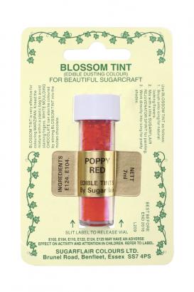Prachová barva  poppy red