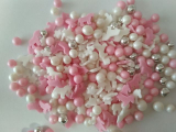 Cukrové dekorace mix bílo - růžový   60 g