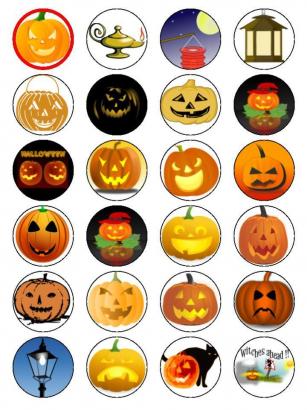 Halloween - jedlý papír  24 ks ii