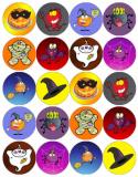20 ks obrázků z jedlého papíru - halloween strašidla