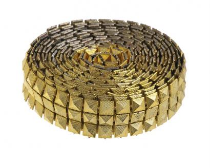 Dekorační pásek  zlatý 2,5 cm
