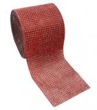 Diamantový pás  12 cm  červený