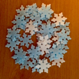 Sněhové vločky z jedlého papíru  30 ks