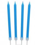 Dortové svíčky modré 10 ks