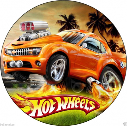 Jedlý papír hot wheels 2