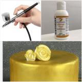 Barva do airbrush metalická zlatá  100 g