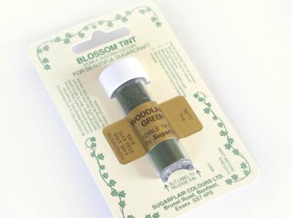 Barva prachová lesní zelená - woodland green
