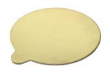 Zlatá podložka minidezert kruh 10 cm