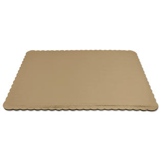 Podložka zlatá vlnka  obdélník  25 x 35 cm