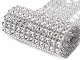 Diamantový pás 58 mm x 1 m stříbrný