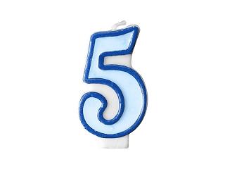 Svíčka modrá 5