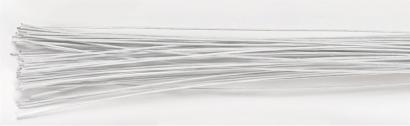Floristický drát  1 mm  bílý  10 ks